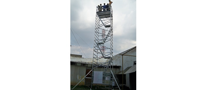 Stairway Tower for petrol bunk canopy maintenance - Shell India, Bangalore